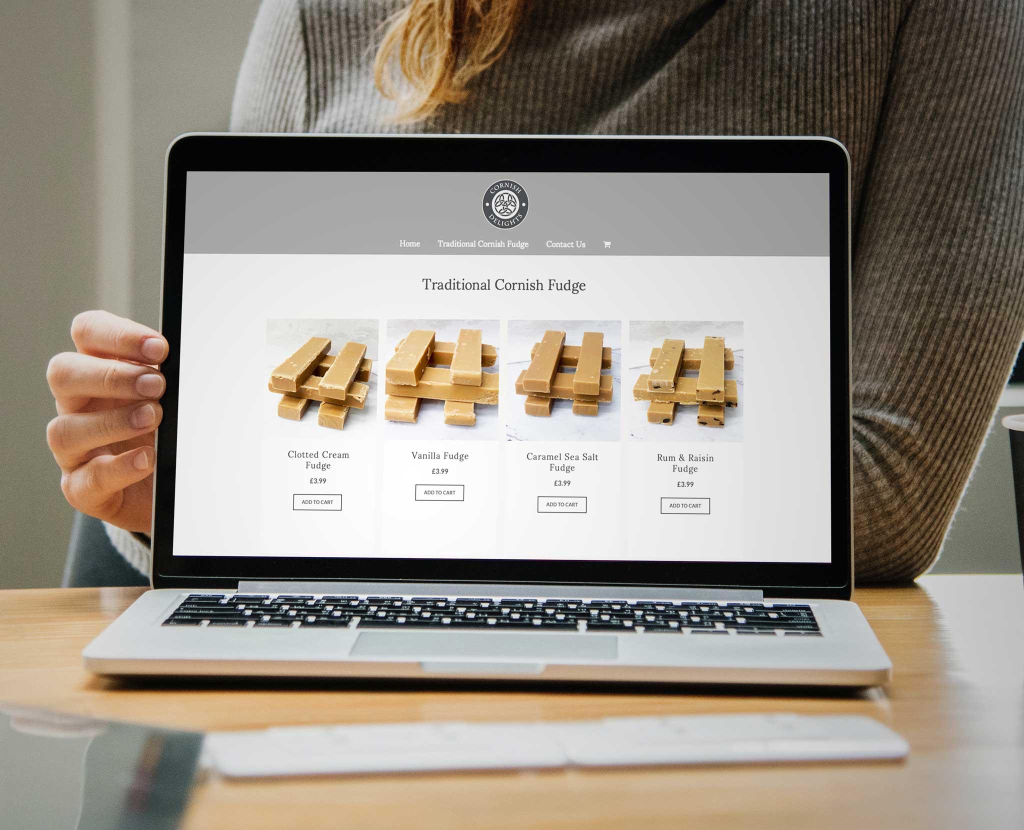 Cornish Delights Website Viewed On Macbook